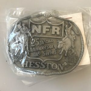 Vintage 1983 25th anniversary NFR Buckle